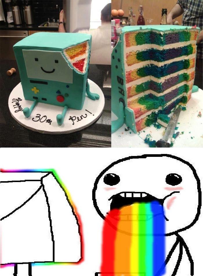 Cake making level over 9000. . OC