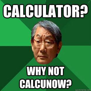 calculator. . cnu: uman; r my NOT