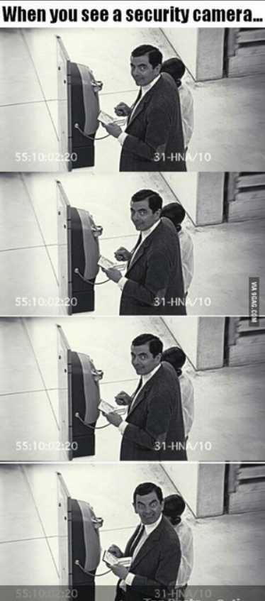 Camera. . Wm!!! man an an security camera.... mfw I spot a hidden security camera