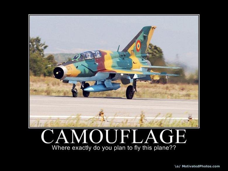 Camo Fail?. Meh.. CAFE Where exactly do you plan to fly this plane'?'? lo/ Ma. destination: gay community center.