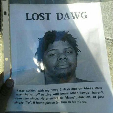Can't find his dog.. Ummmmmmm, wow..