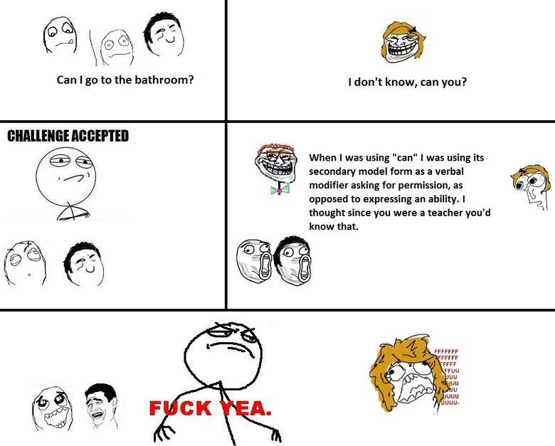i go to the bathroom,