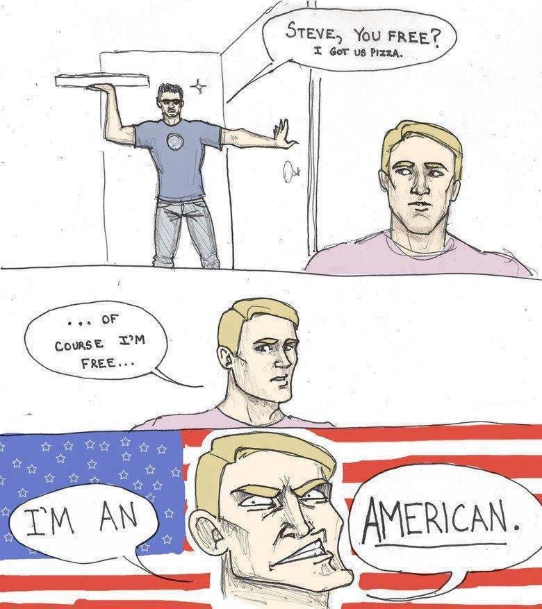 Cap'n 'Murica. . I ebim :13 mag.. you america! avengers captain america nigga