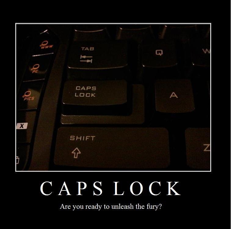 Funny Caps Lock Quote: Caps Lock
