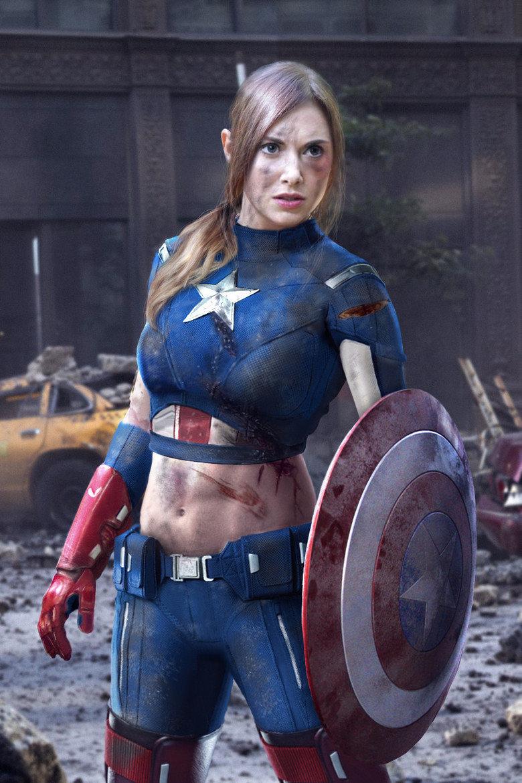 Captain America rule 63. .