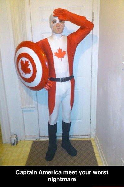 Captain Canada!. . Captain America meet your worst nightmare canadia