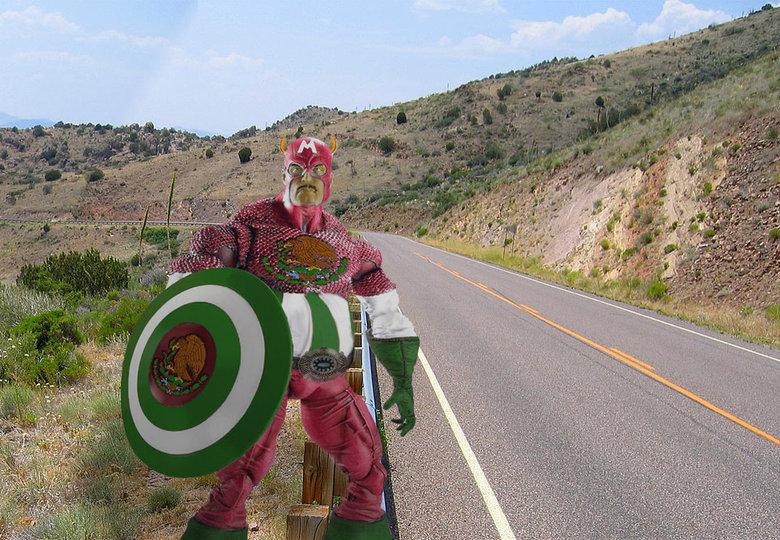 Captain Mexico. Hola Amigo.. At the border of justice! superhero Mexico FUNNYJUNK lol WTF