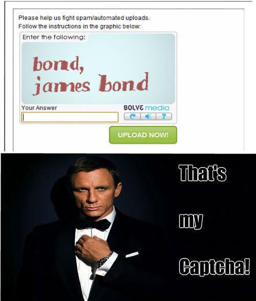 Captcha. Shaken not stirred... inb4 Daniel Craig is a terrible Bond comments