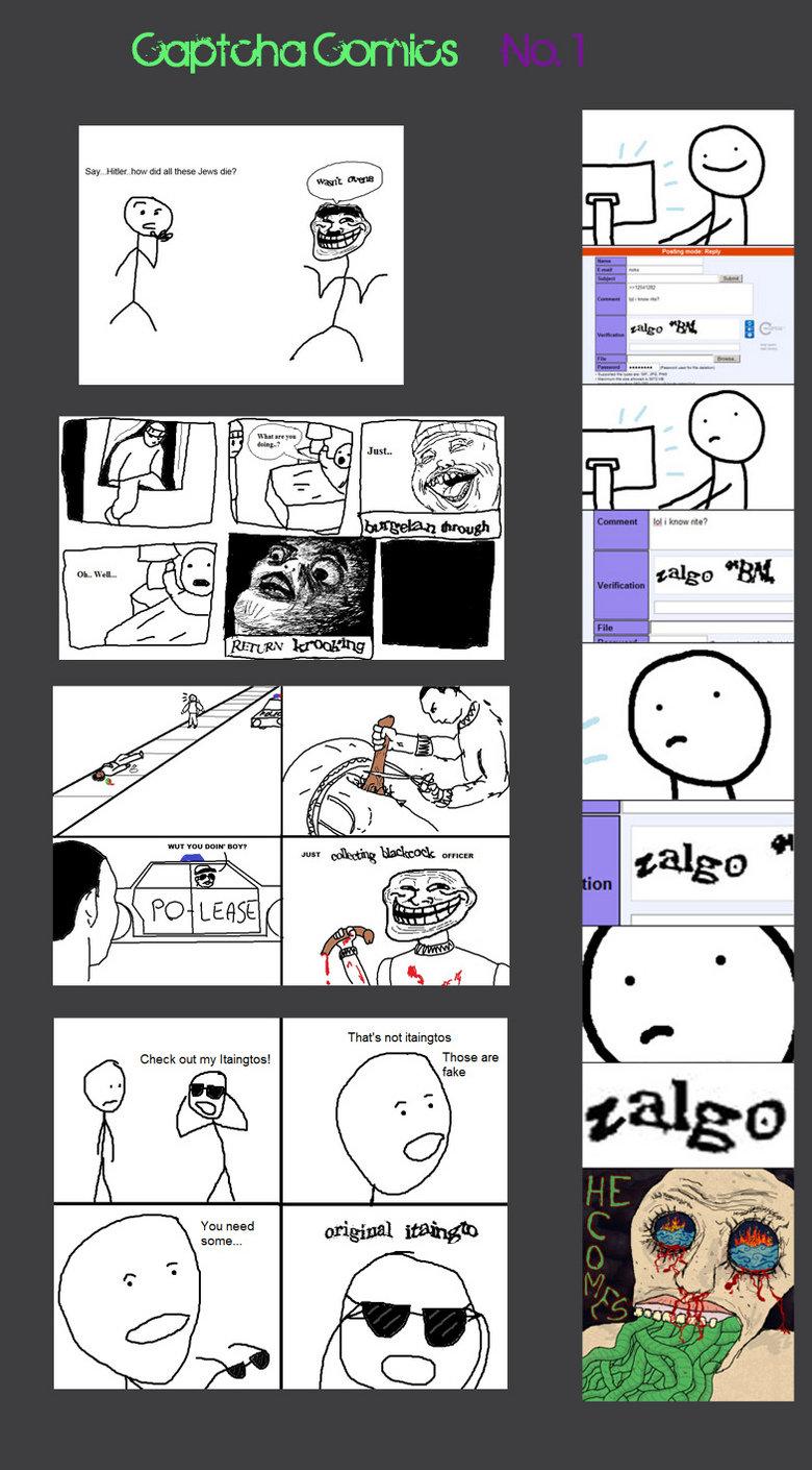 Captcha Comic. My first captcha comic, hope you guys like =]. Star my Check nut my