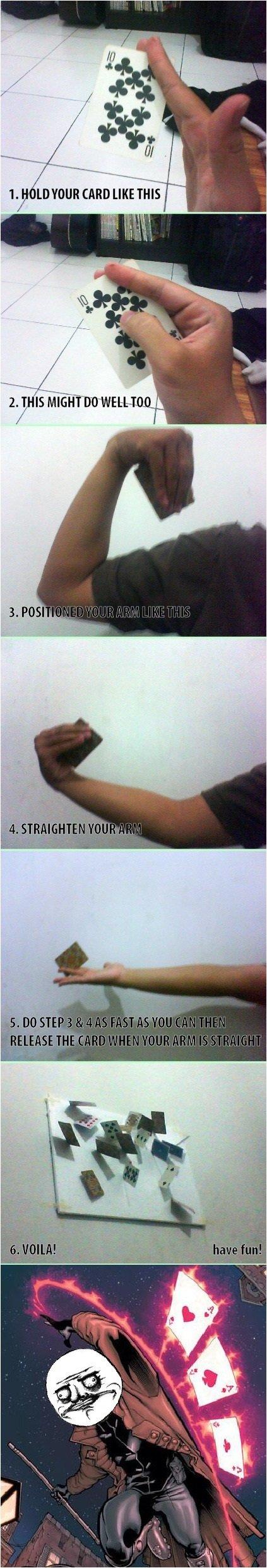Card trick. . Ill q MR I is Hui:. Noob