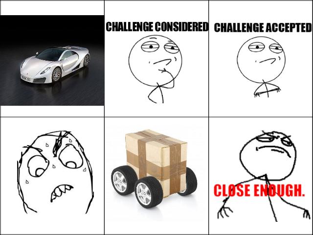 Cardboard car. .