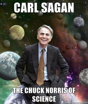 Carl Sagan. 1. Stephen Hawkings wears Carl Sagan pajamas. 2. The reason a black hole collapses infinitely on itself is because its trying to get away from Carl  Carl Sagan Chuck