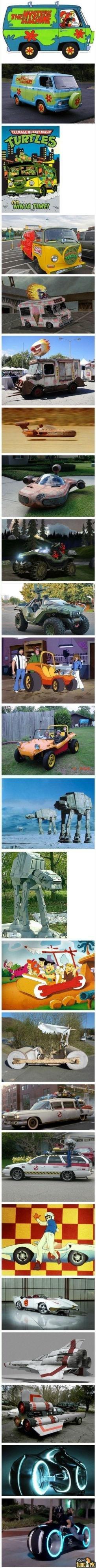 Cartoon Cars IRL. .. i derrezed at the last one