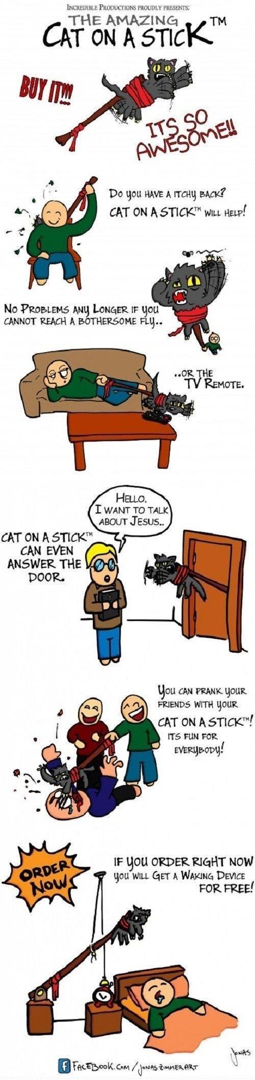 """Cat on a stick. Repost!. t Panama [nus Emu nu , In gnu Hm: A want; BACK? CRT ON A ' l WILL HELP! Mn Protitute; AMI; lexeme. gnu REACH A t! Fug"""" gnu an Vanni: gn cat logic full e"""
