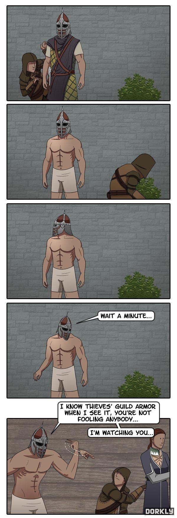 Catching a skyrim thief. . rti'. MFW I've never played Skyrim