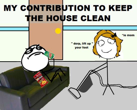 Cause im a nice guy. . MY C F TION TO KEEP HE MO SE CLEAN