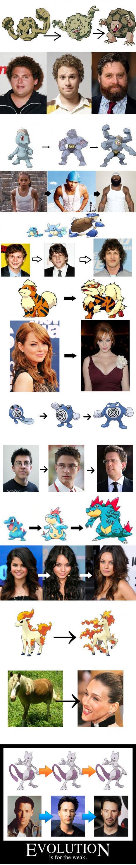 14 Celebrity Pokemon Evolutions | WeKnowMemes