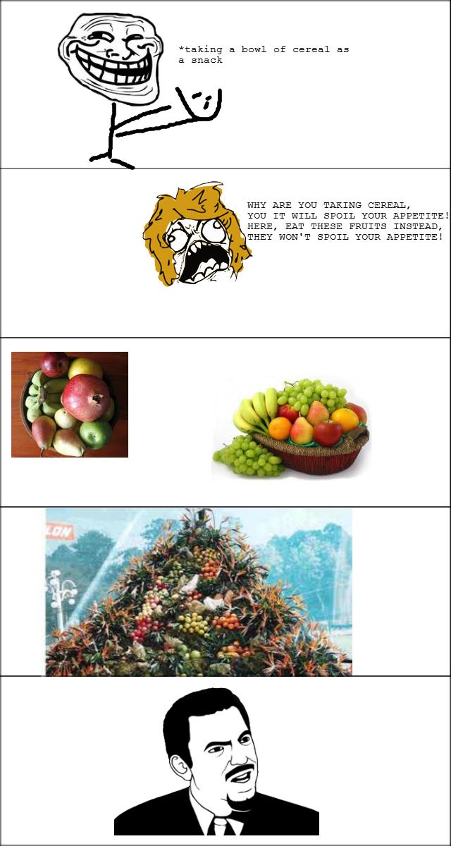 cereal vs fruit. .