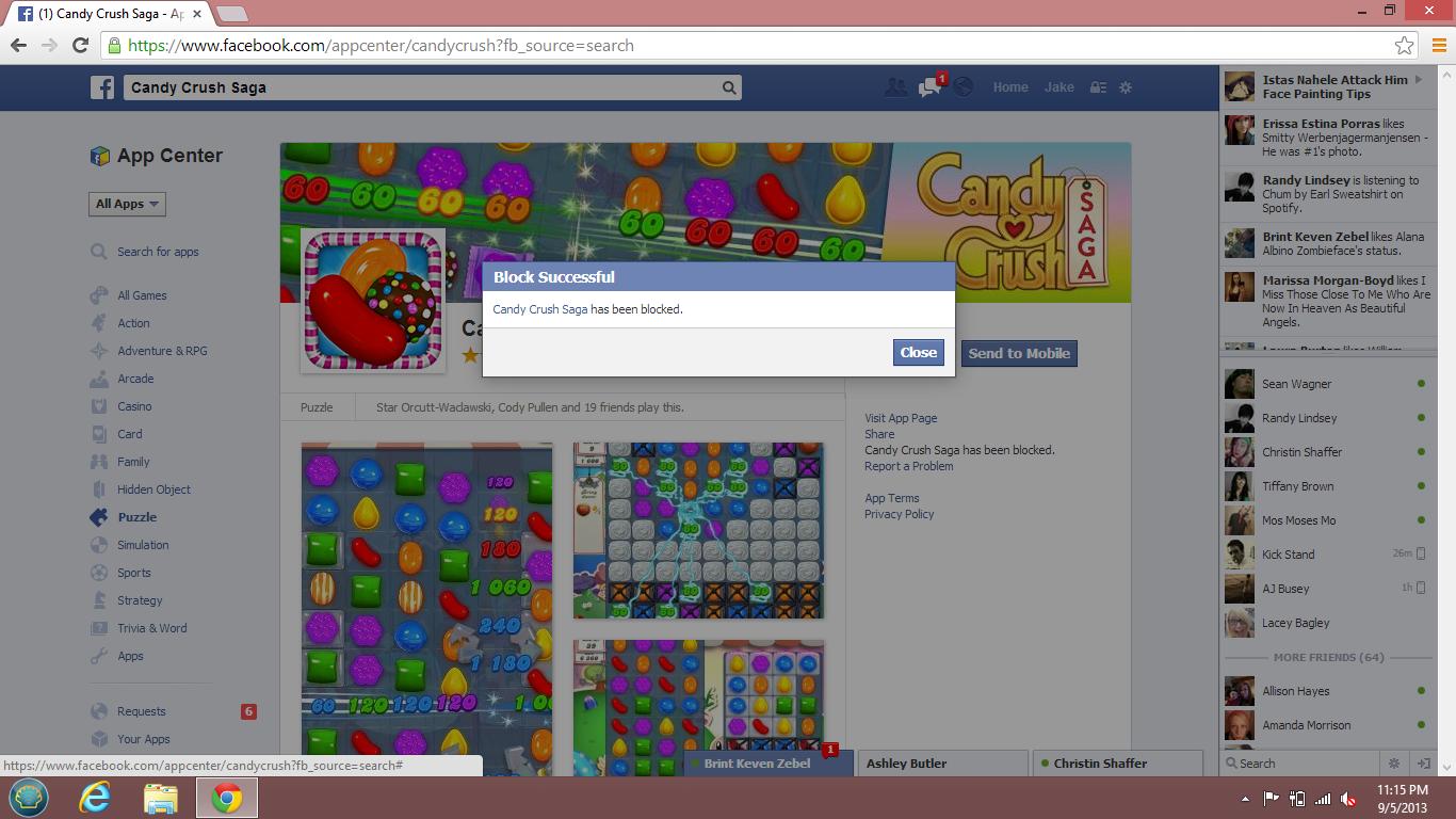 Challenge Complete. facebook games.. f {1} Candy Crush Saga - In It - E Ll rte: sea rah