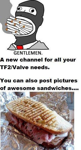 Channel Sandwich. POST NOW . A new channel fer all year needs. Yen min else post pictures ilm. Mfw sandwich channel