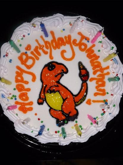 CHARMANDAR. my birthday cake from dairy queen.. Your charmander looks like it has to pee. charmander Pokemon retarded