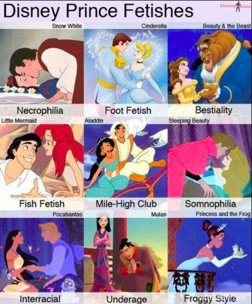 Childhood Ruined. . Disney Prince Fetishes Full.-