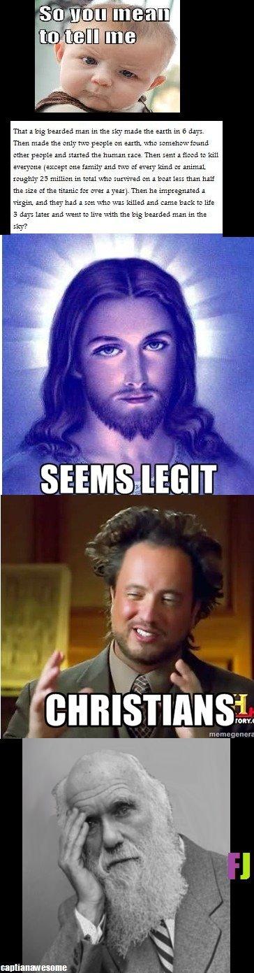 Christianity - seems legit.. . RI 1113 1; -231121 111311 Ml the 111312 1112 231111 111 ll = Then 111312 the lilli 1111. 1 211 231111 13. 11: . 3111 1131121 1112 Atheists ftw