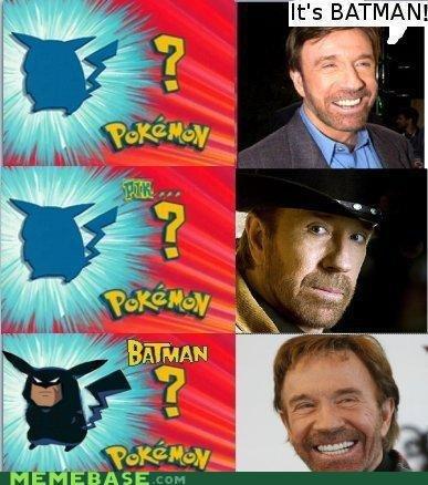 Chuck knows his pokemon. if u know whats good for ya.. repost. Chuck Norris PIKACHU batman its a Trap