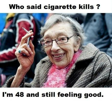 Cigarette kills?. . Who said cigarette kills 'ii' Lvii . Cigarette