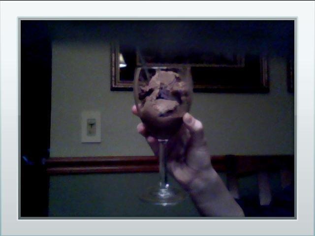 Classy as fuck.. It's ice cream in a wine glass..