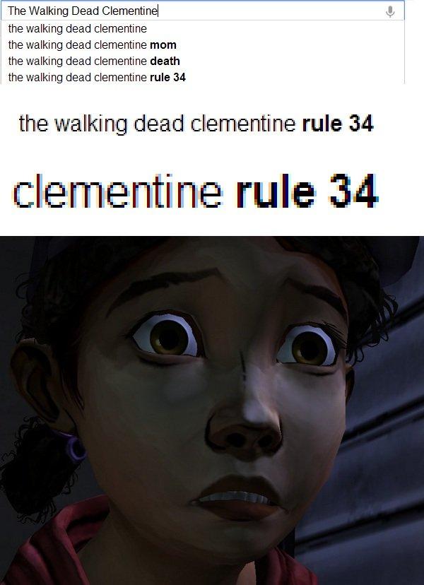Clementine. found.. The Walking Dead ( the walking deed .. the fellating deed ::' mum deed death the deed :: he rule 34 the ili! ' alti' E rule iai! itrite rule