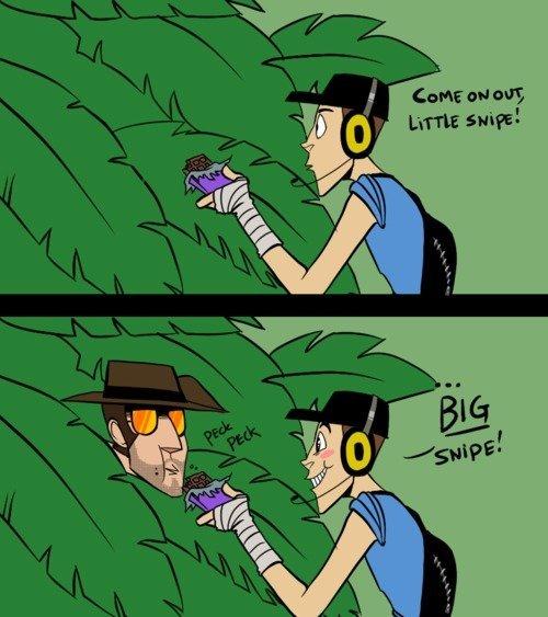 Cmon out little sniper :D. omg 5 words my ass cheeks.. TF2 thread anyone? :D