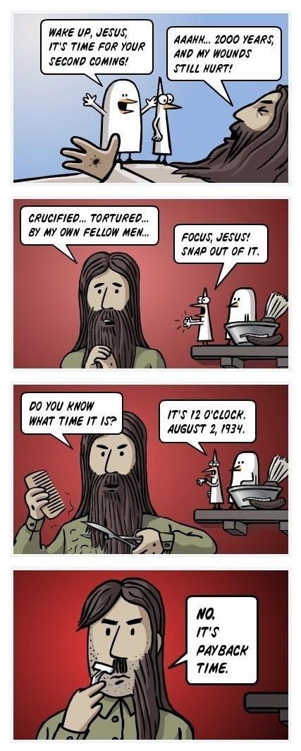 COMEBACK JESUS.. Uh. guys.. ma, toei, rtf'. j NH KNEW HRH TAFE If M'? q Hill RENT! HM HF FT.. repost..old burt good