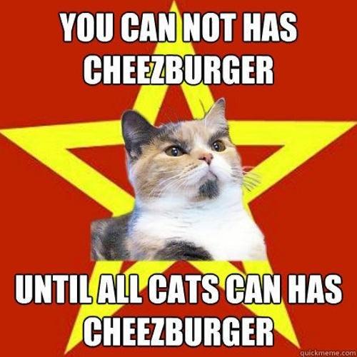 Communist Cat. found on . communism Cats communists commies cheezburger russia
