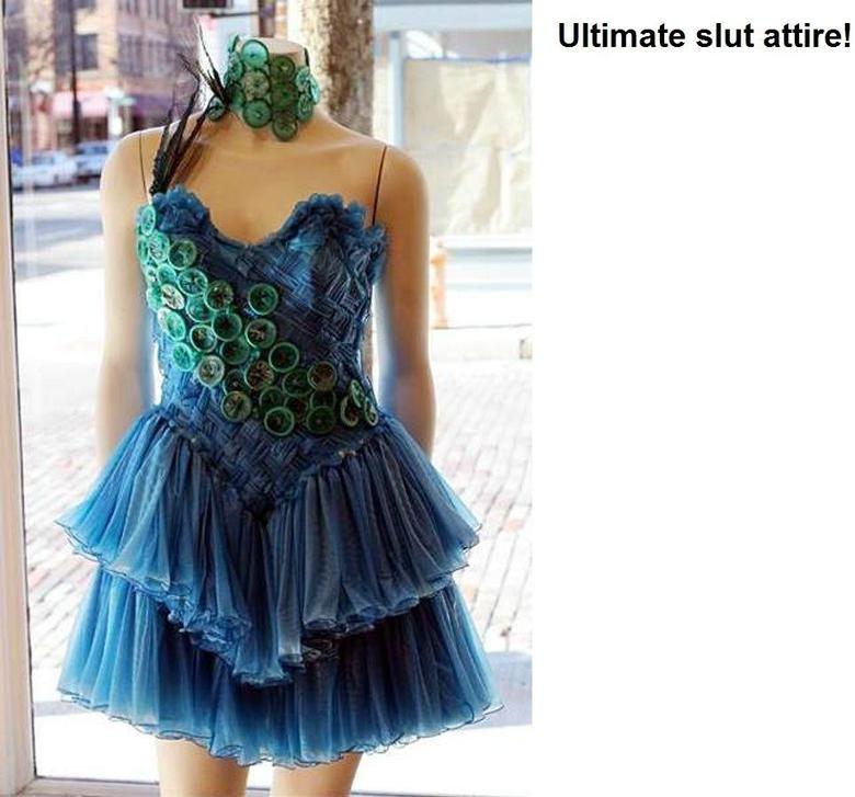 Condom dress!. Well alrighty then!.