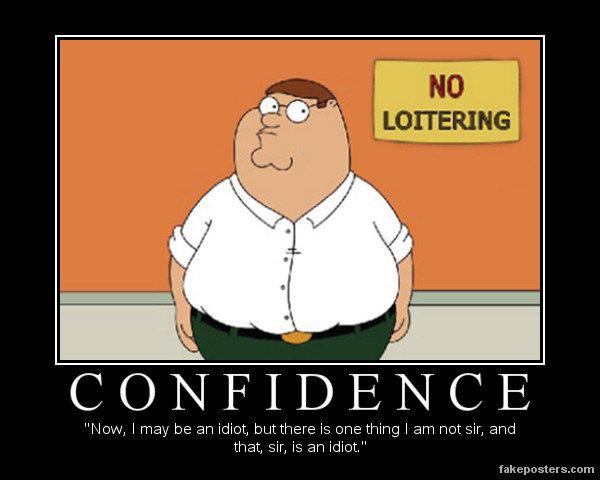 confidence. .
