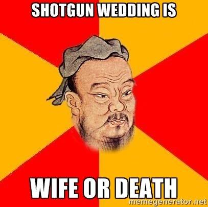 Confucius say. .