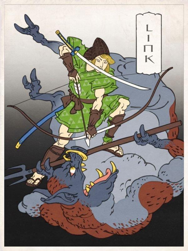 Cool alternate art. Beware, not OC. link loz Ancient Japan