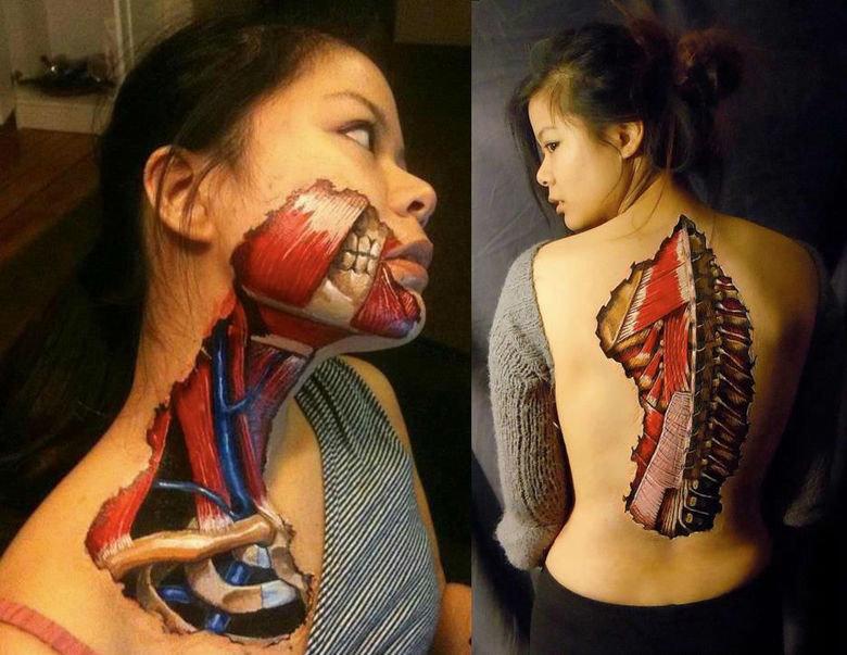 Cool Body Paint. .. mfw it's anatomically correct