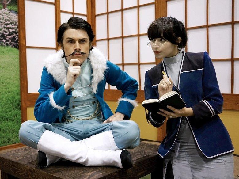 cool cosplay. Varrick and Zhu Li.. I love team rocket