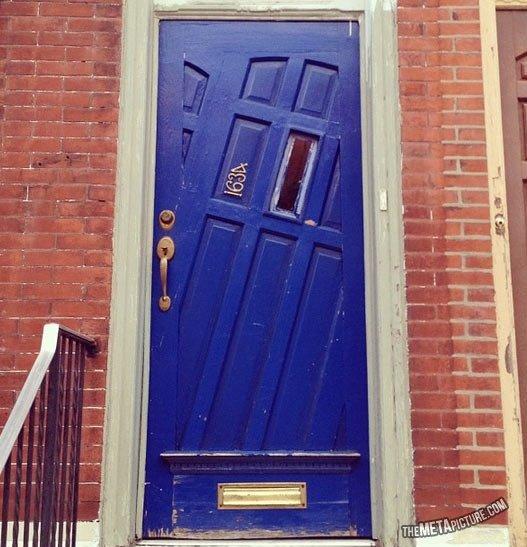 Cool looking door. .. Go home door ... you are drunk !