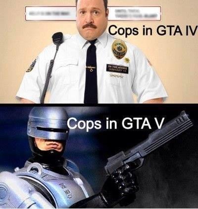 Cops in GTA. Not mine, credit to Videogamemes. I pops in em IV. Cops in GTA Online