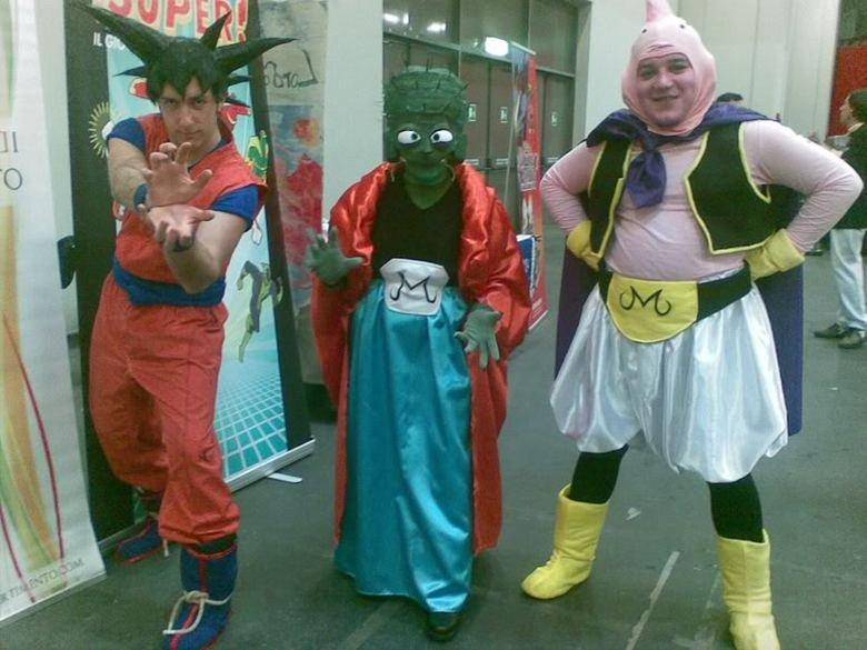 Cosplay Fail 2/3. at least majin bu is fat<br /> cos. fail 3/3<br /> www.funnyjunk.com/funny_pictures/370287/Cosplay+Fail+3+3/. Goku majin bu dragon balls cosplay