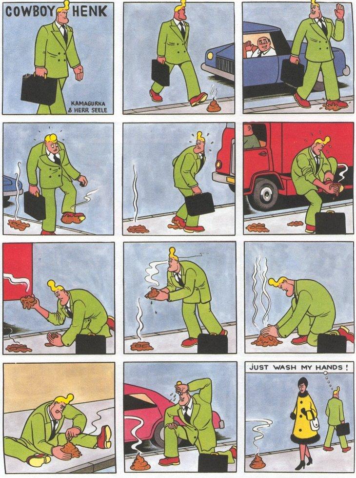 Cowboy Henk. dumping all my Cowboy Henk credit to Kamagurka & Herr Seele. coward; HENK