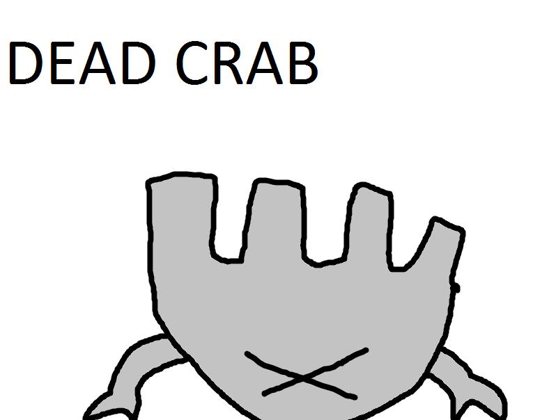 crab 7. . DEAD CRAB crab