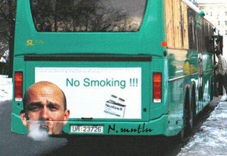 creative smoking ad. .