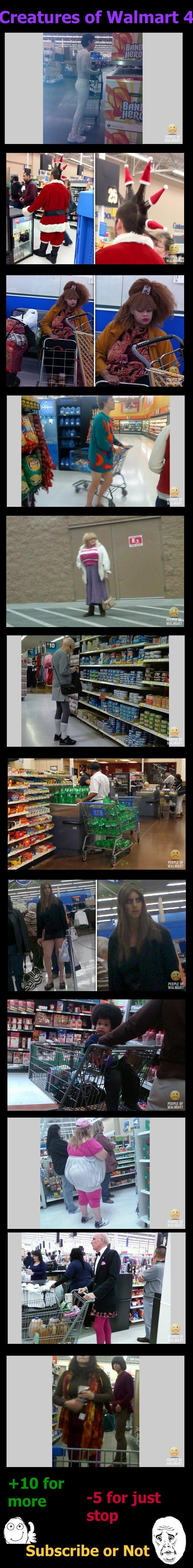 Creatures of Walmart Comp 4. EDIT: Part 5- www.funnyjunk.com/funny_pictures/2091054/Creatures+of+Walmart+Comp+5/ Part 1-www.funnyjunk.com/funny_pictures/2083969
