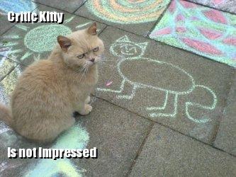Critic Kitty. Not even a little bit.