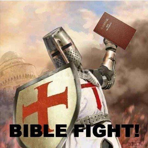 Crusades in a nutshell. words can break bones.. tis but a verse