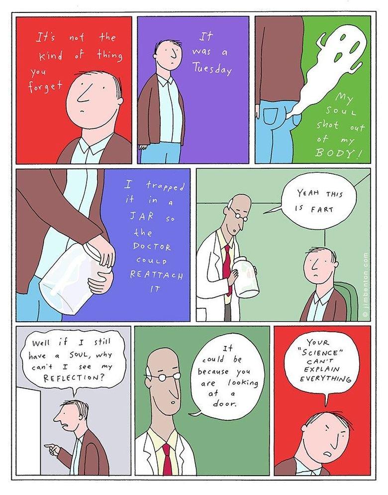 Curse you science. via jimbenton . com. kmel a SOUL, why othet' 4 I see my it t FLEET f am?